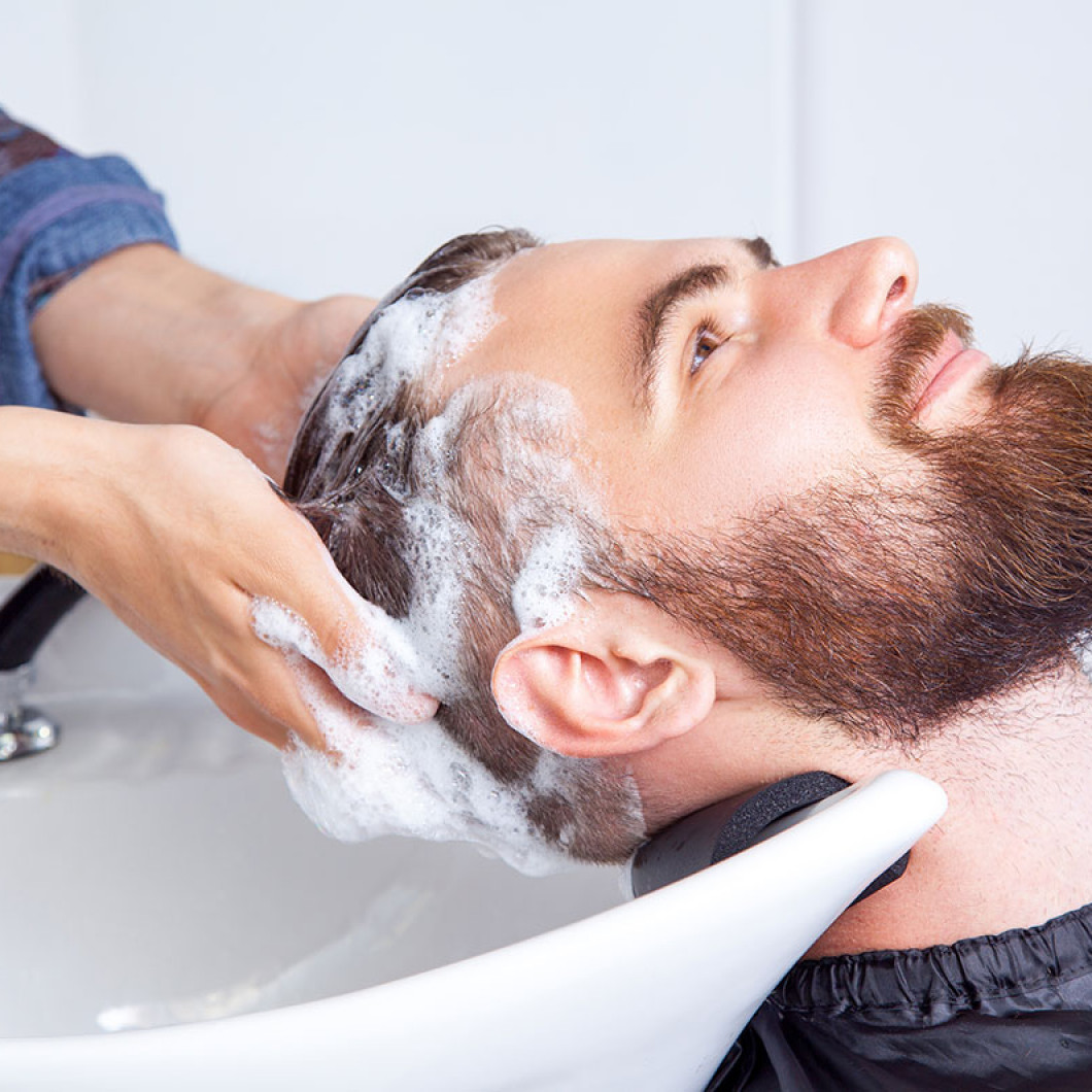 Why you should come by for a men's shampoo service